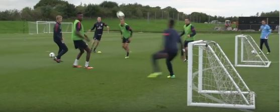 Angleterre entrainement football pro
