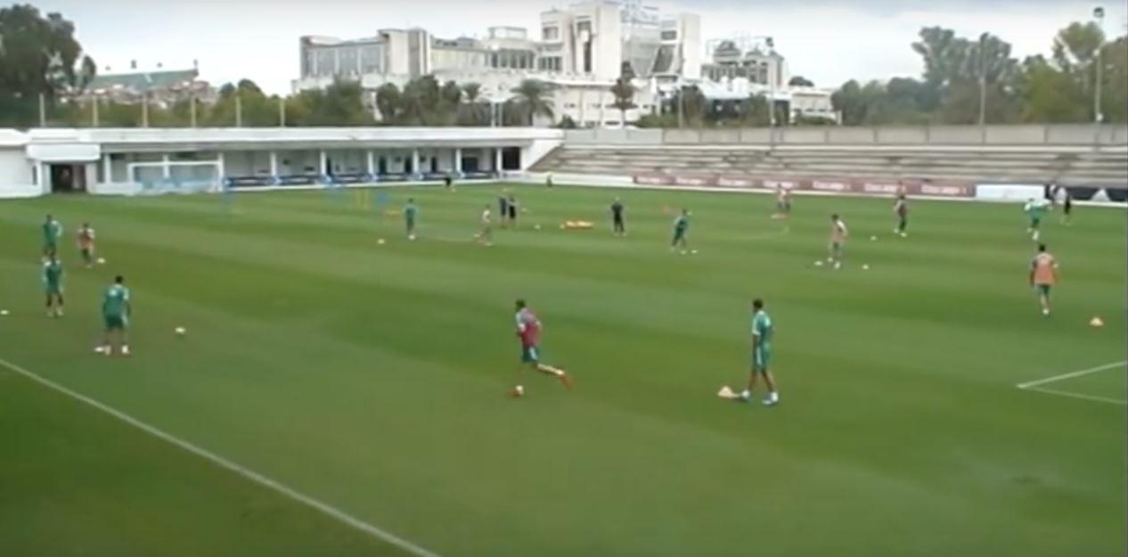 Bétis Seville entrainement football pro
