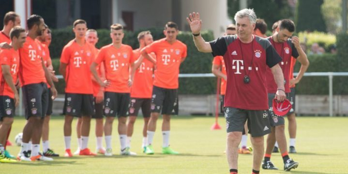 BAYERN MUNICH – Jeu de progression collective ( 8 contre 8 + 1) par Carlo Ancelotti