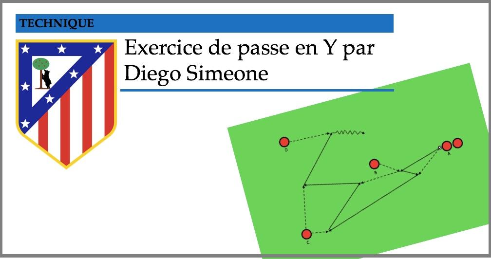ATL.MADRID – Exercice de passes en Y par Diego Simeone